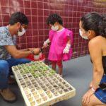 Horta 2 -Plantio com criança