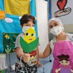 HOIOL Lucas do Mar e dona Maricota. Crédito Ascom Pró-Saúde